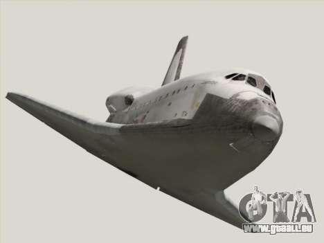 Space Shuttle für GTA San Andreas Rückansicht