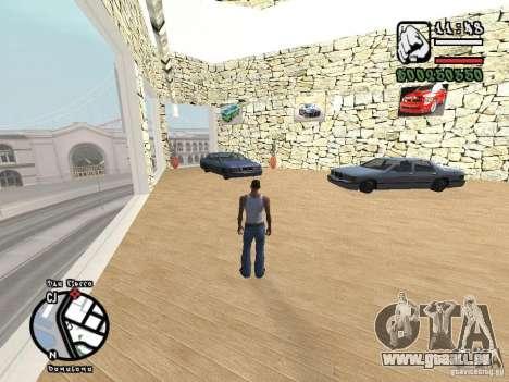 Dodge Salon pour GTA San Andreas deuxième écran