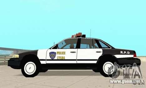 Ford Taurus 1992 Police pour GTA San Andreas laissé vue