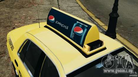 Ford Crown Victoria NYC Taxi 2004 pour GTA 4 roues