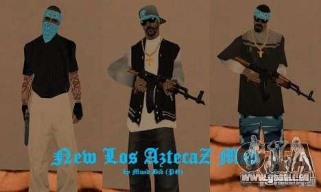 New Los Aztecas skins pour GTA San Andreas
