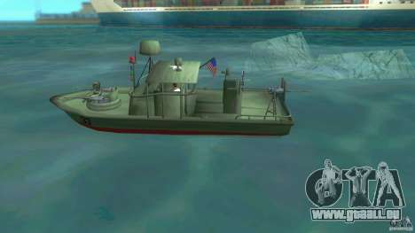 Patrol Boat River Mark 2 (Player_At_Wheel) pour une vue GTA Vice City de la gauche