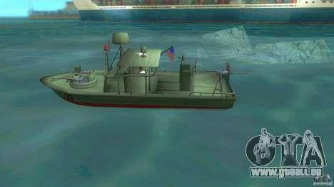 Patrol Boat River Mark 2 (Player_At_Wheel) pour une vue GTA Vice City de la gauche