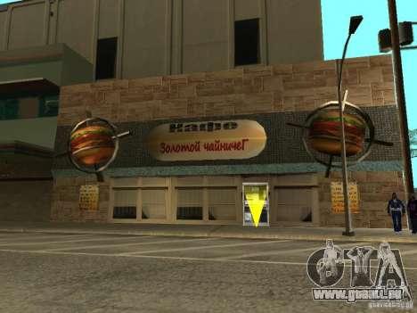 Nouveau Burgershot : ČajničeG or pour GTA San Andreas