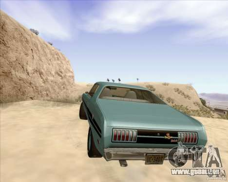 Plymouth Cuda AAR 340 1970 pour GTA San Andreas sur la vue arrière gauche