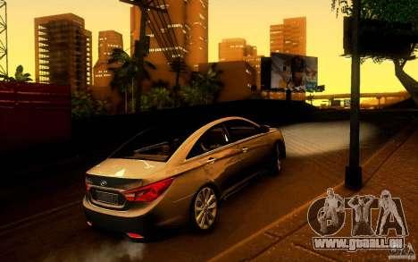 Hyundai Sonata 2011 für GTA San Andreas zurück linke Ansicht