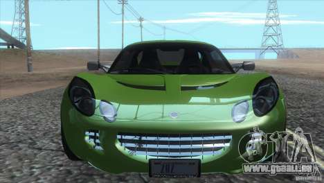 Lotus Elise für GTA San Andreas obere Ansicht