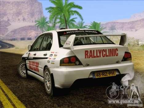 Mitsubishi Lancer Evolution IX Rally pour GTA San Andreas moteur