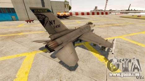 F-16C Fighting Falcon pour GTA 4 Vue arrière de la gauche