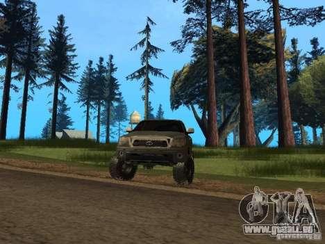 Toyota Tacoma 2011 für GTA San Andreas Rückansicht