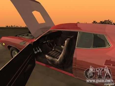 Ford Torino Cobra 1970 Tunable für GTA San Andreas Innen