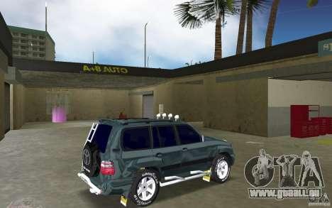 Toyota Land Cruiser 100 pour une vue GTA Vice City de la droite