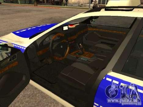 BMW 525i Touring Police für GTA San Andreas zurück linke Ansicht