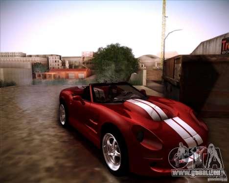 Shelby Series One 1998 für GTA San Andreas zurück linke Ansicht