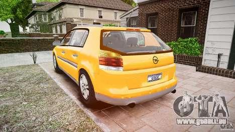 Opel Signum 1.9 CDTi 2005 für GTA 4 hinten links Ansicht