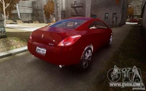 Pontiac G6 pour GTA 4 Vue arrière