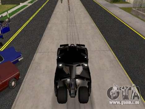 Tumbler Batmobile 2.0 pour GTA San Andreas vue arrière