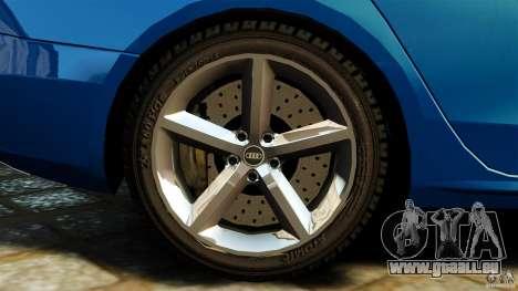 Audi A4 2010 pour GTA 4 vue de dessus