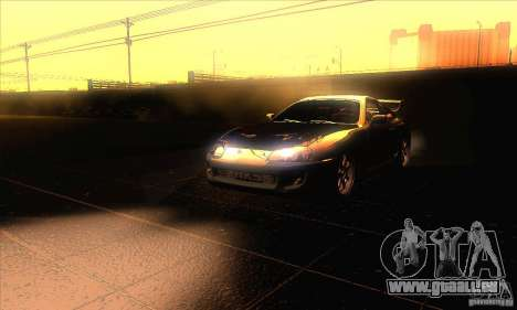 Toyota Supra pour GTA San Andreas vue de dessus