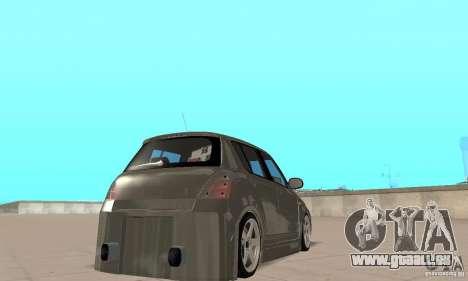 Suzuki Swift Tuning pour GTA San Andreas laissé vue