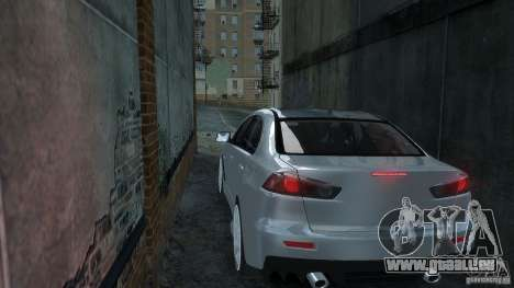 Mitsubishi Lancer EVO X pour GTA 4 Vue arrière de la gauche