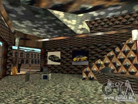 Nouveau showroom de Lamborghini à San Fierro pour GTA San Andreas cinquième écran
