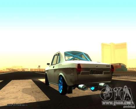 Gaz Volga 2410 Drift Edition pour GTA San Andreas sur la vue arrière gauche