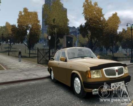 Volga gaz 3110 pour GTA 4 Vue arrière de la gauche