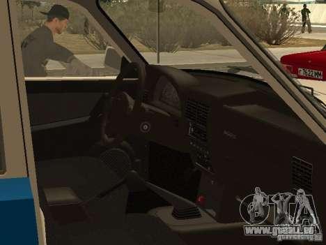 GAZ 3110 Police pour GTA San Andreas vue de droite