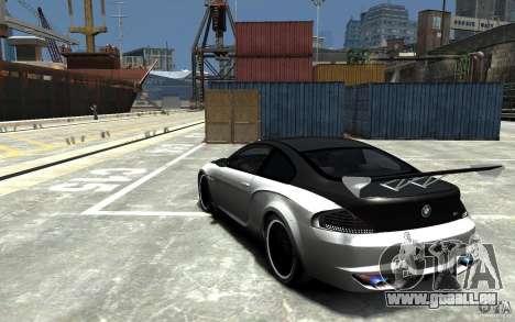 BMW M6 Tuning pour GTA 4 Vue arrière de la gauche
