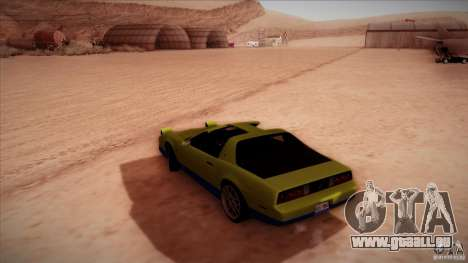 Pontiac Firebird Trans Am pour GTA San Andreas laissé vue