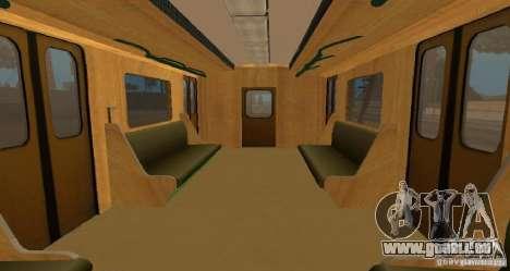 U-Bahn Typ Igel für GTA San Andreas Innenansicht