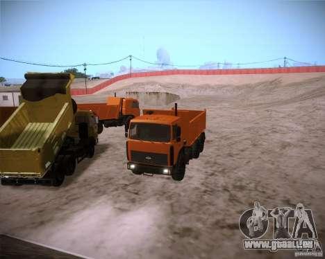 6317 MAZ pour GTA San Andreas vue arrière