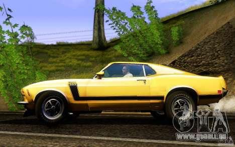 Ford Mustang Boss 302 für GTA San Andreas linke Ansicht