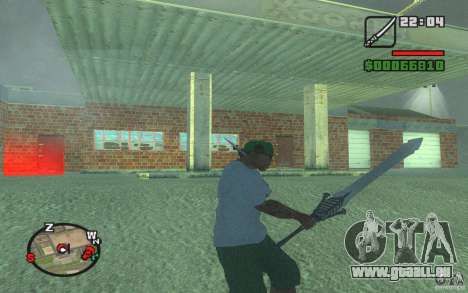 Épée de Dante de DMC 3 pour GTA San Andreas