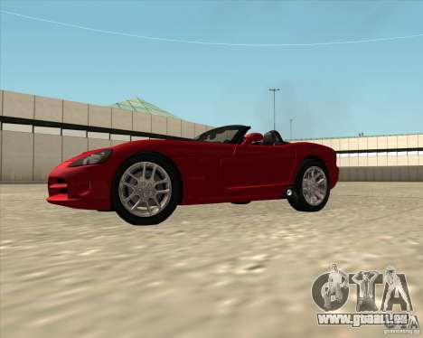Dodge Viper SRT-10 Roadster pour GTA San Andreas vue de droite