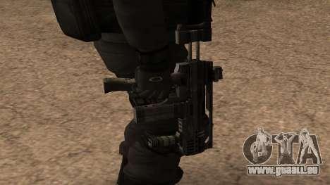 Turcotte Rapid SMG pour GTA San Andreas troisième écran