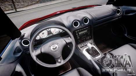 Mazda MX-5 Miata pour GTA 4 Vue arrière