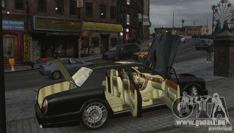 Bentley Arnage T v 2.0 für GTA 4 Unteransicht