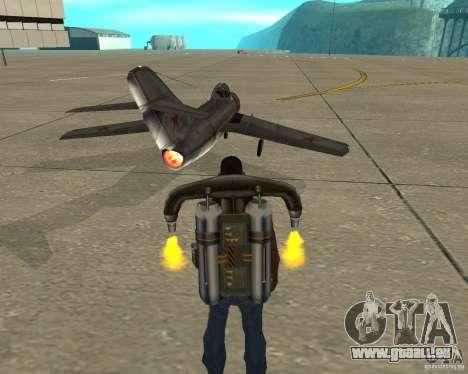 MIG 15 URSS pour GTA San Andreas sur la vue arrière gauche