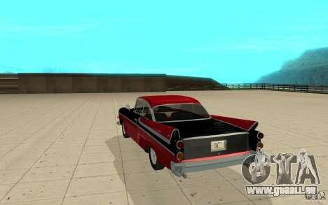Dodge Lancer 1957 für GTA San Andreas zurück linke Ansicht