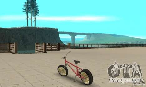 BMX Long 2 für GTA San Andreas zurück linke Ansicht