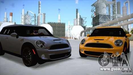 MINI Cooper Clubman JCW 2011 pour GTA San Andreas laissé vue