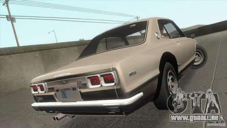 Nissan Skyline 2000 GT-R Coupe pour GTA San Andreas vue de dessous
