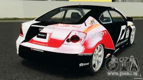 Scion TC Fredric Aasbo Team NFS pour GTA 4 Vue arrière de la gauche