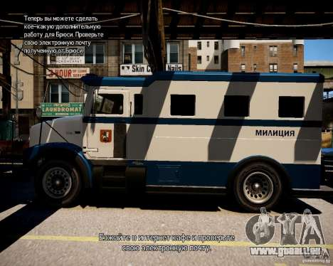 Russian Police Stockade für GTA 4 linke Ansicht