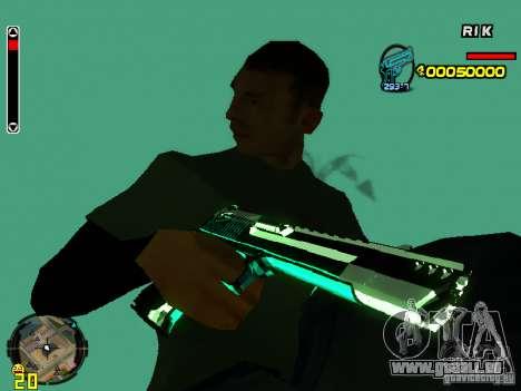 Blue weapons pack pour GTA San Andreas cinquième écran