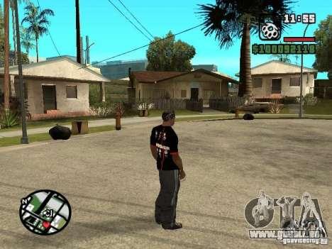 Rammstein T-shirt v3 für GTA San Andreas dritten Screenshot