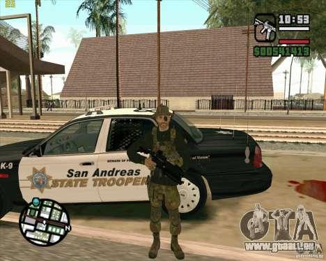Praice peau de COD 4 pour GTA San Andreas quatrième écran