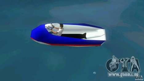 Speedboat dinghy pour une vue GTA Vice City de la gauche